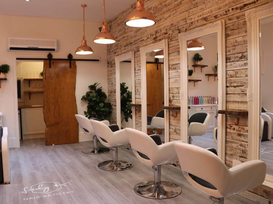 Recycled timber cladding for salons by Simply Wood