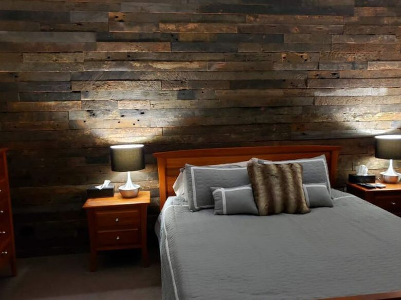 Bedroom Feature Wall - Wire Brushed Sides